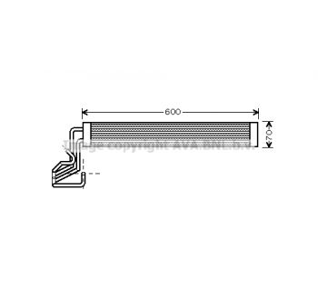 Radiateur d'huile, direction AVA QUALITY COOLING VN3264